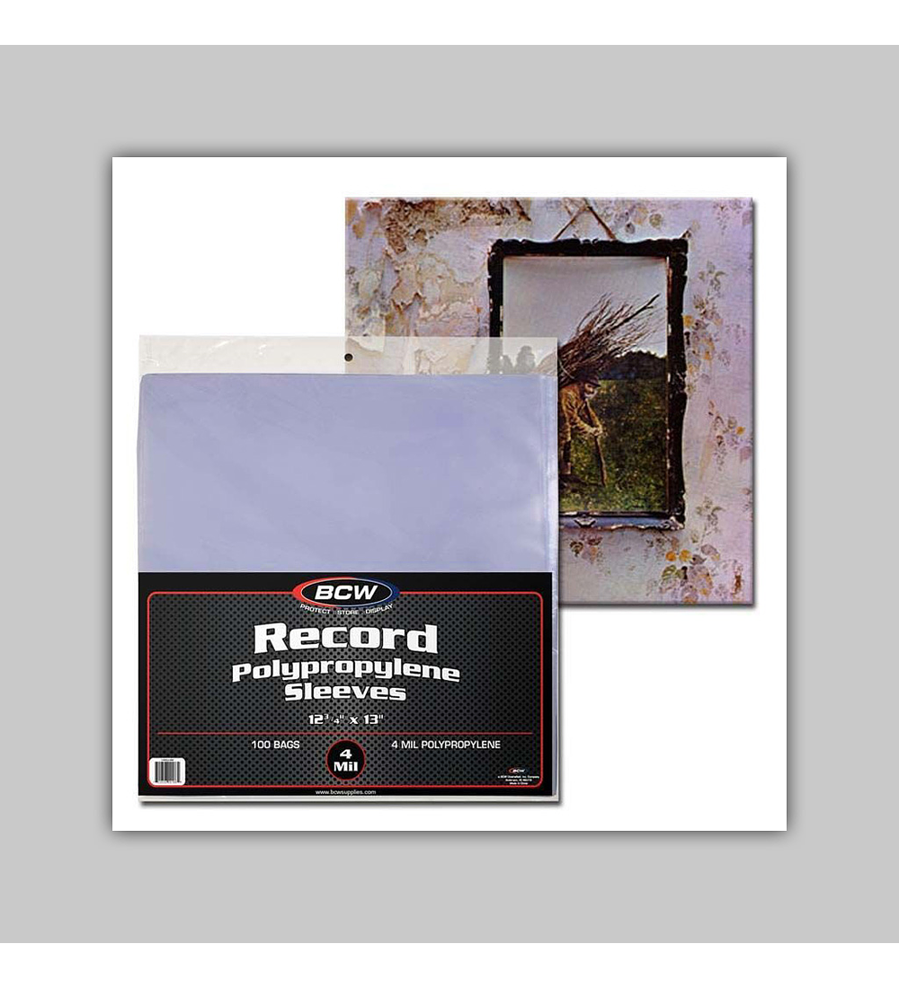 33 RPM Record Sleeves - 4 MIL (100)