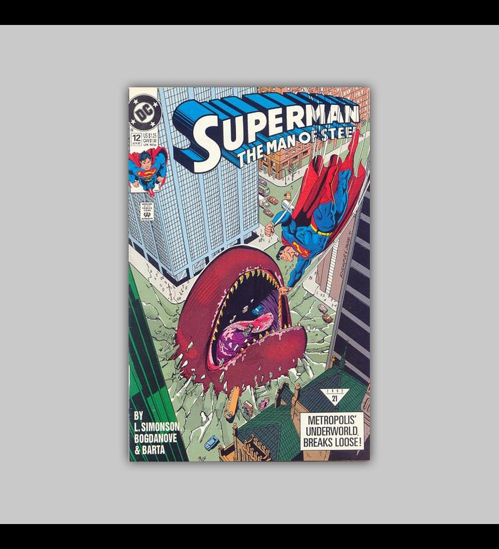 Superman: The Man of Steel 12 VF (8.0) 1992