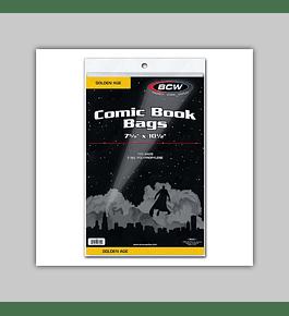 Golden Comic Book Bags (100)