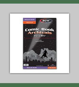 Silver/Regular Comic Book Mylar 4 Mil (25)