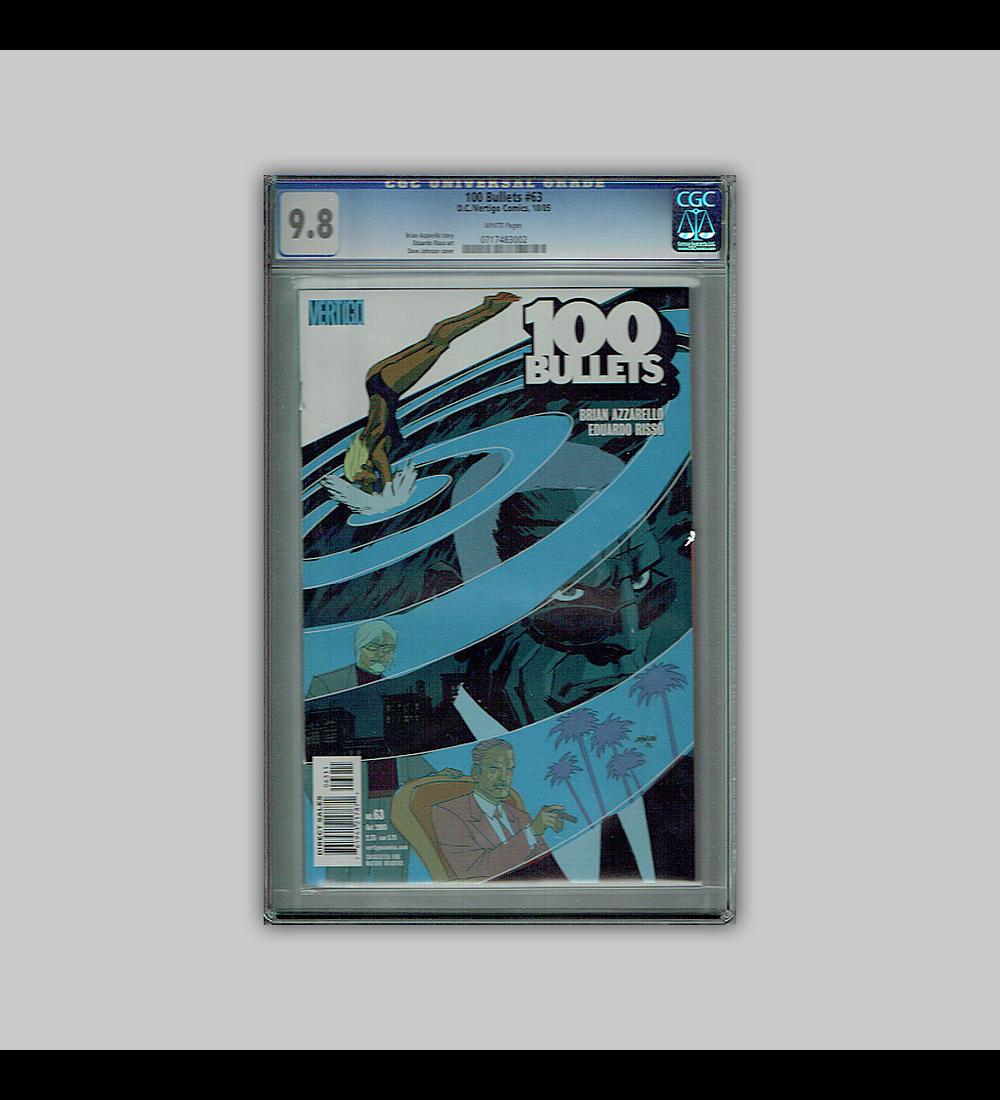 100 Bullets 63 CGC 9.8 2005