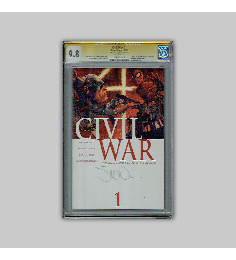 Civil War 1 CGC 9.8 Signature 2006