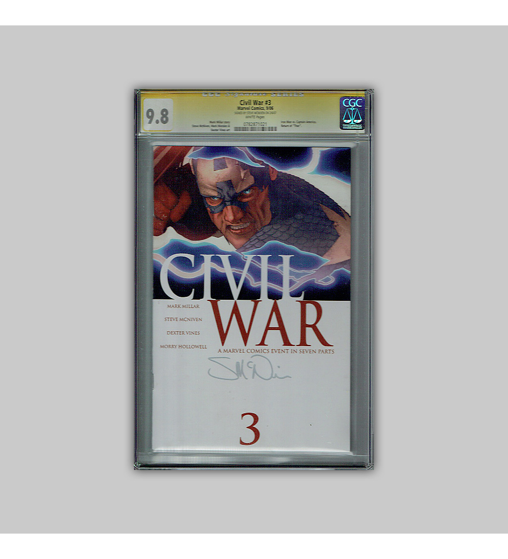 Civil War 3 CGC 9.8 Signature 2006