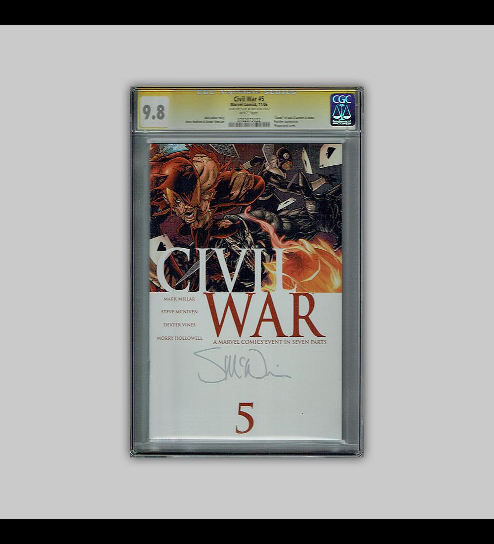 Civil War 5 CGC 9.8 Signature 2006