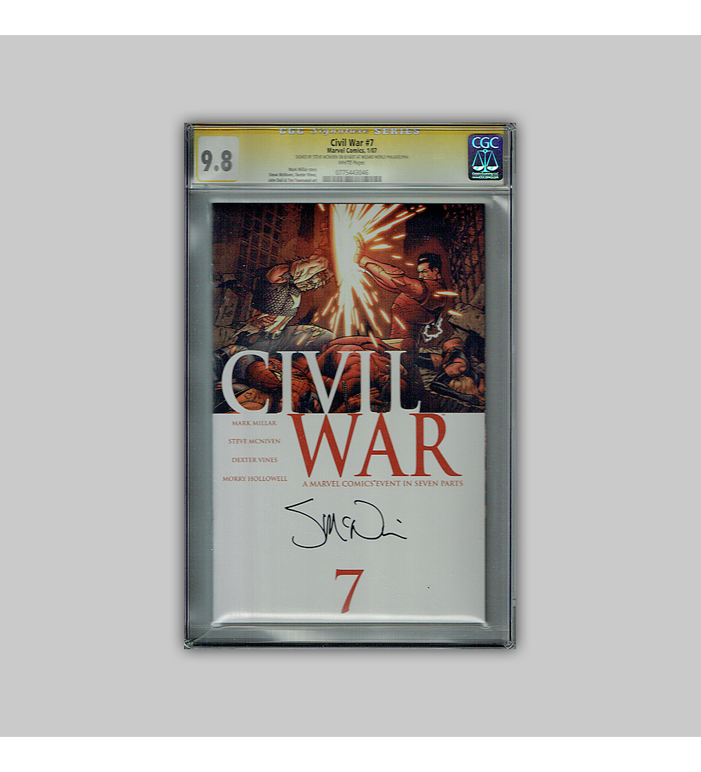 Civil War 7 CGC 9.8 Signature 2007