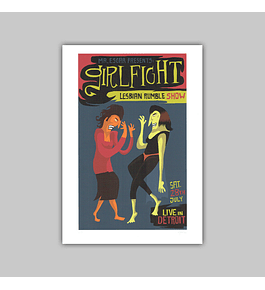 "Giclée ""Girl Fight"" 2018"