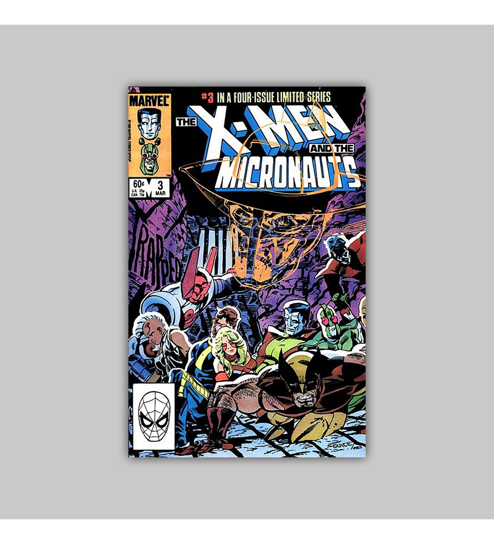 X-Men and the Micronauts 3 NM (9.4) 1984