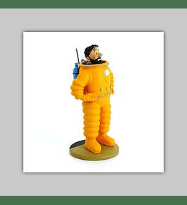 Tintin Figurine Résine: Haddock Cosmonaute 2019