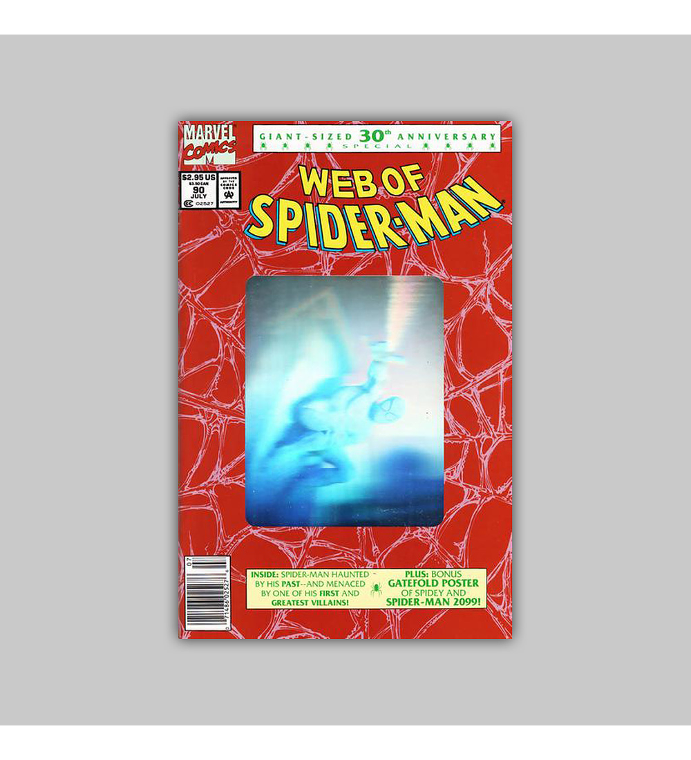 Web of Spider-Man 90 Hologram 1992