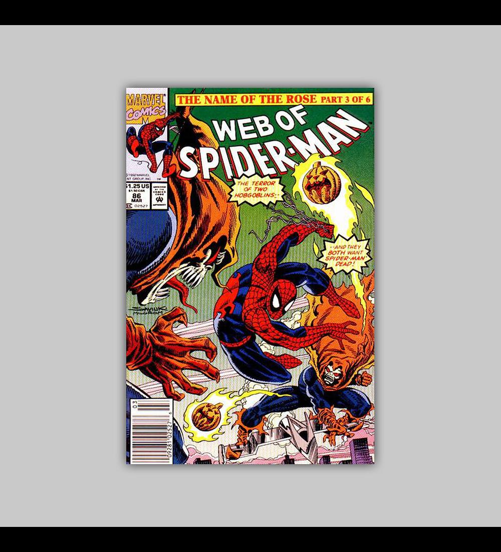 Web of Spider-Man 86 1992
