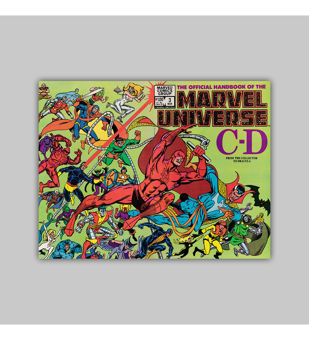 The Official Handbook of the Marvel Universe 3 1983