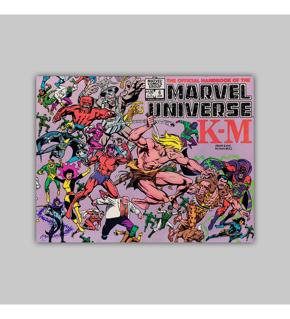 The Official Handbook of the Marvel Universe 6 1983