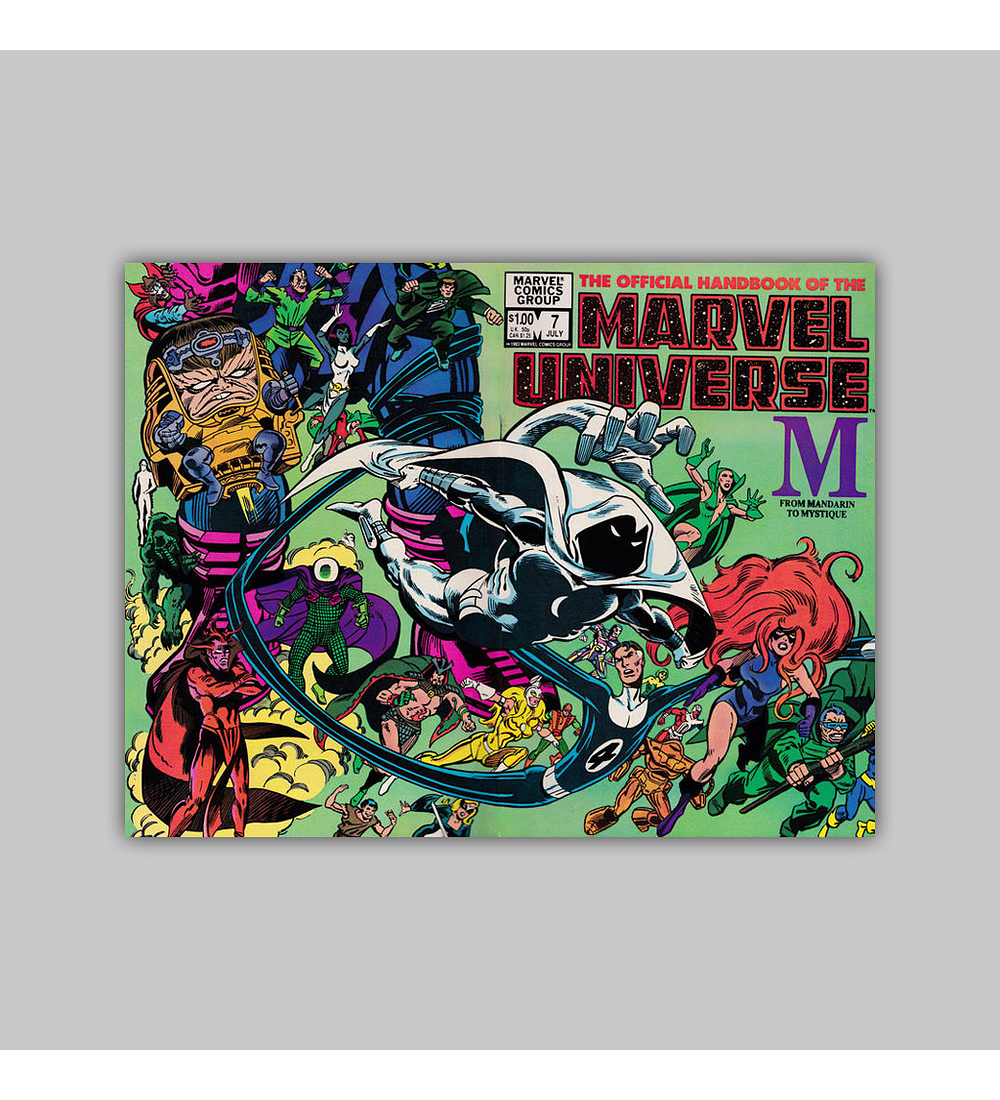 The Official Handbook of the Marvel Universe 7 1983