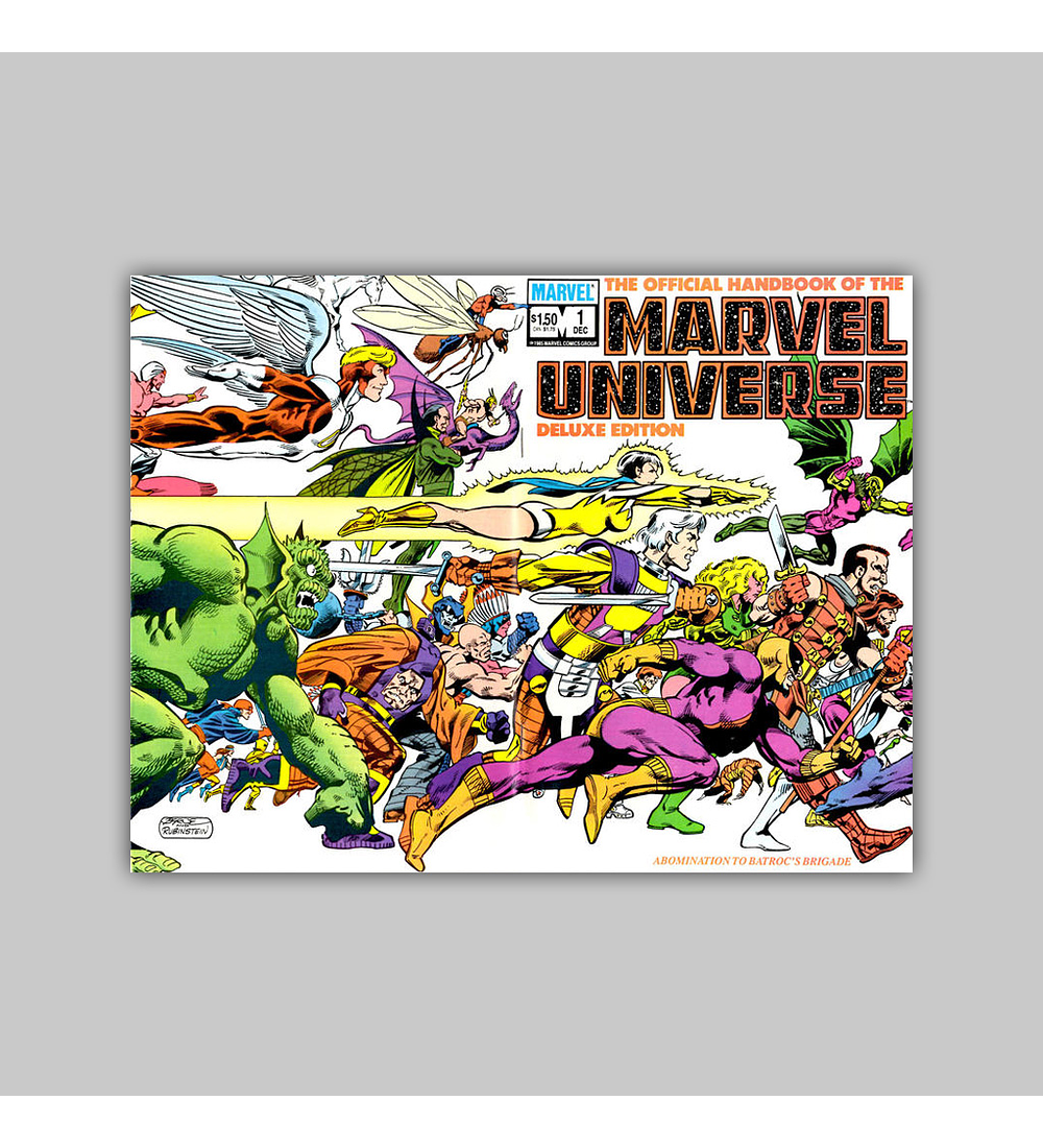 The Official Handbook of the Marvel Universe Deluxe Edition 1 1985
