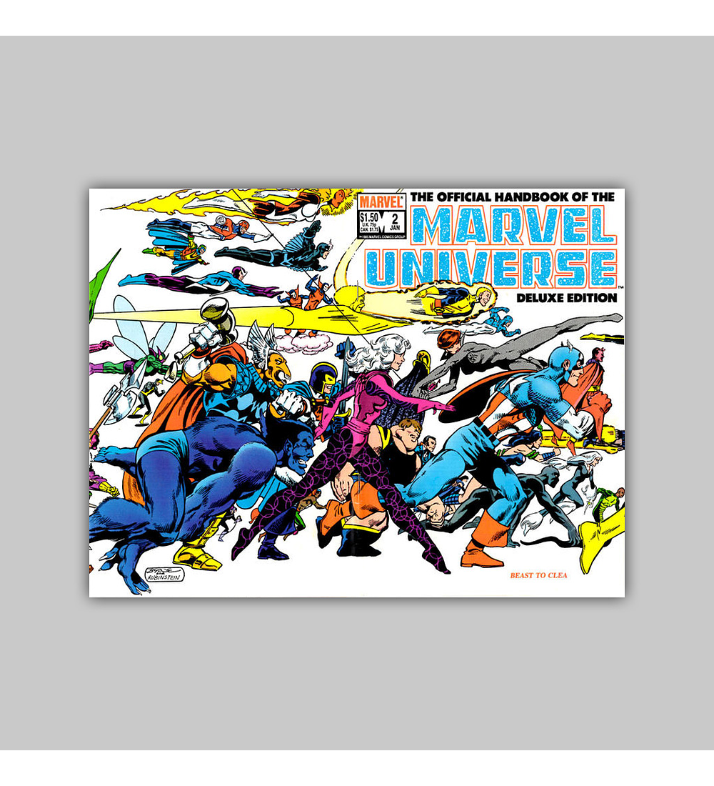 The Official Handbook of the Marvel Universe Deluxe Edition 2 1986