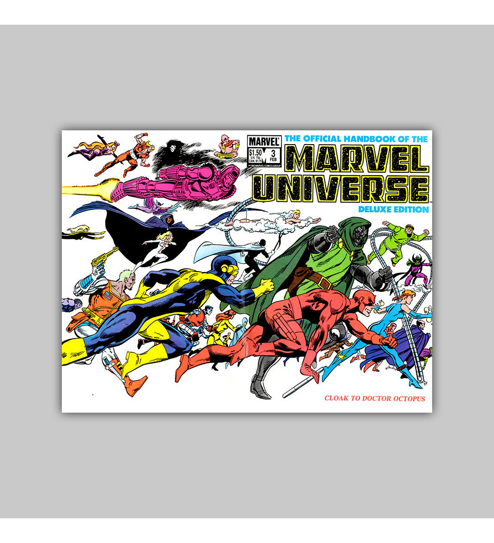 The Official Handbook of the Marvel Universe Deluxe Edition 3 1986