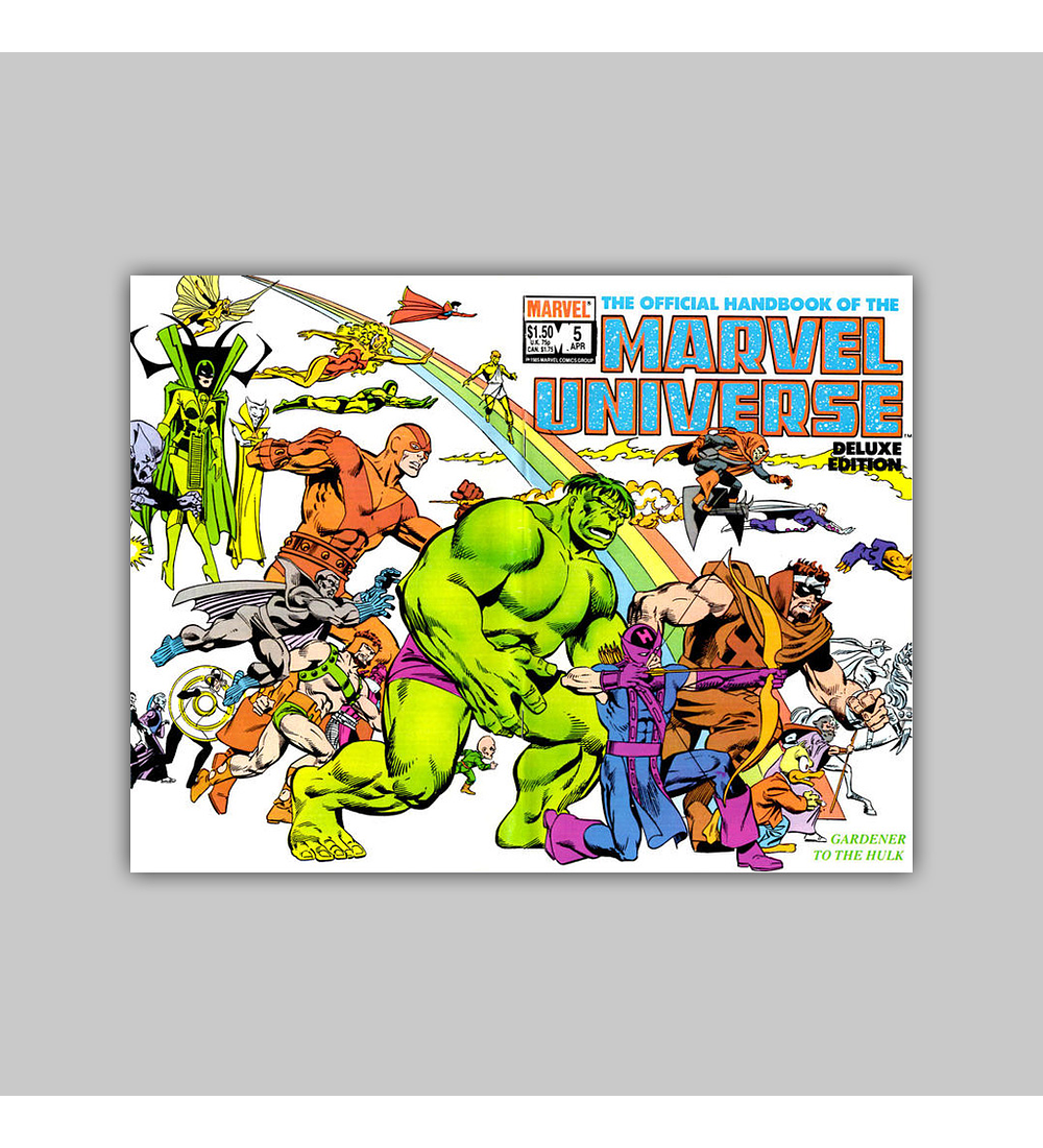 The Official Handbook of the Marvel Universe Deluxe Edition 5 1986