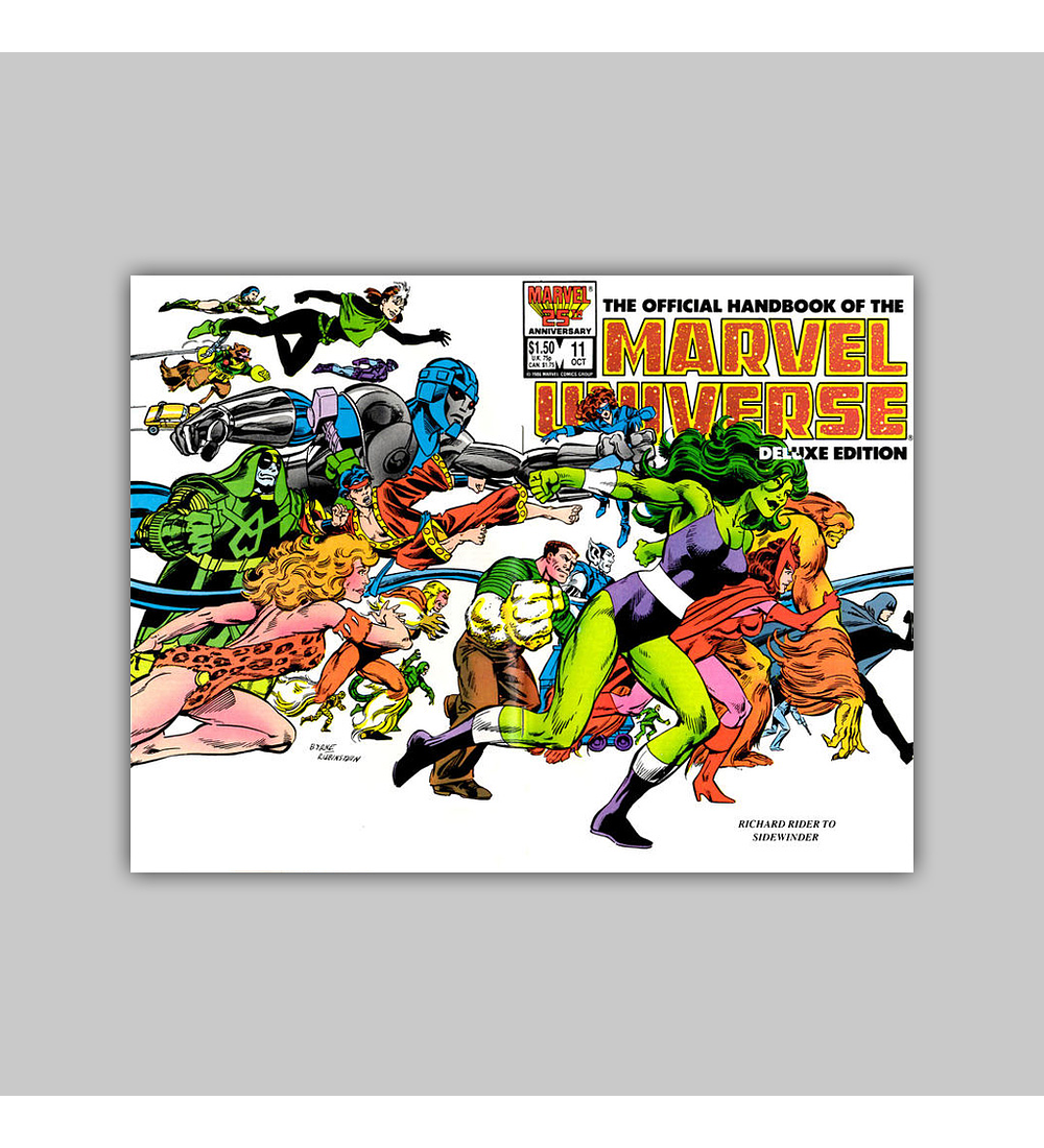 The Official Handbook of the Marvel Universe Deluxe Edition 11 1986