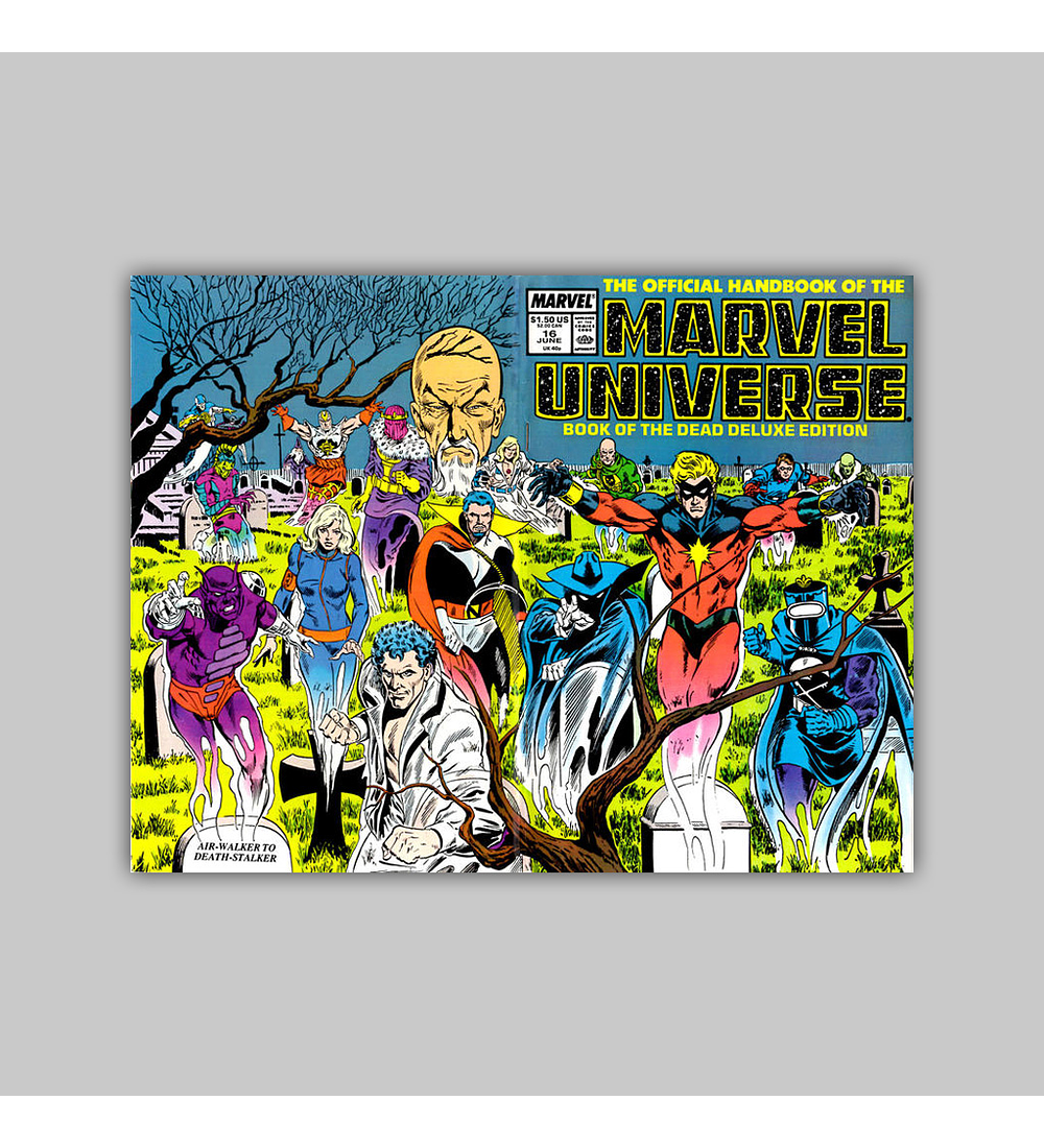 The Official Handbook of the Marvel Universe Deluxe Edition 16 1987