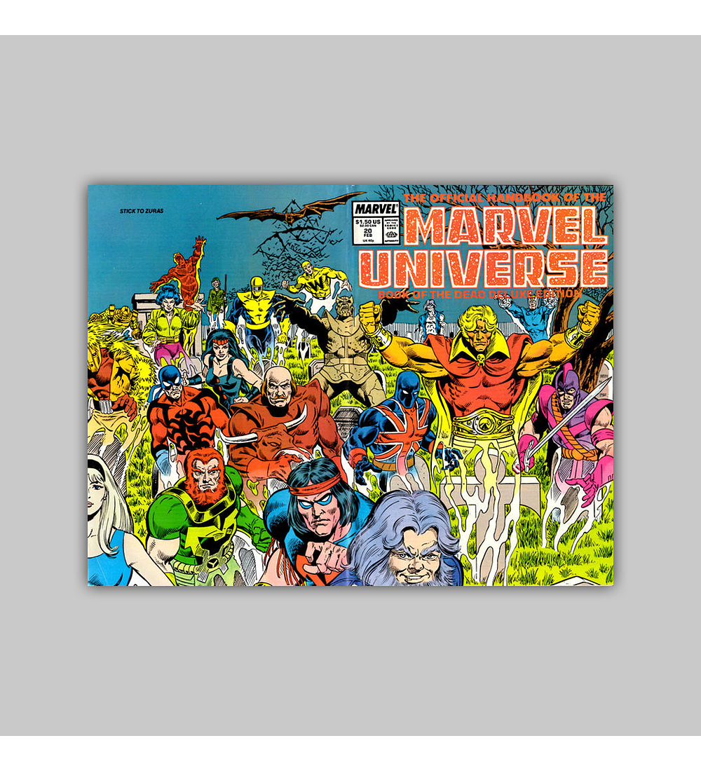 The Official Handbook of the Marvel Universe Deluxe Edition 20 1988