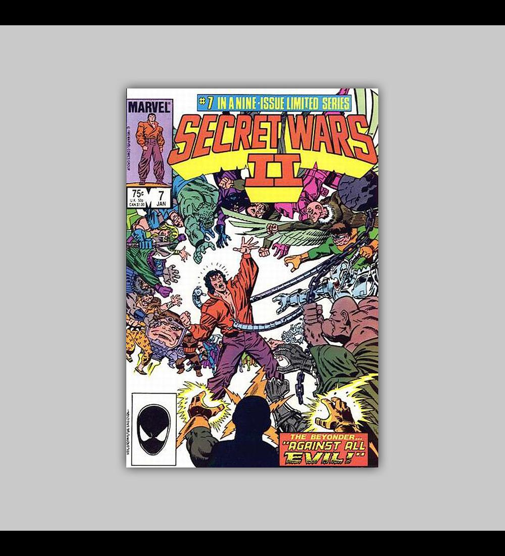Secret Wars II 7 1986