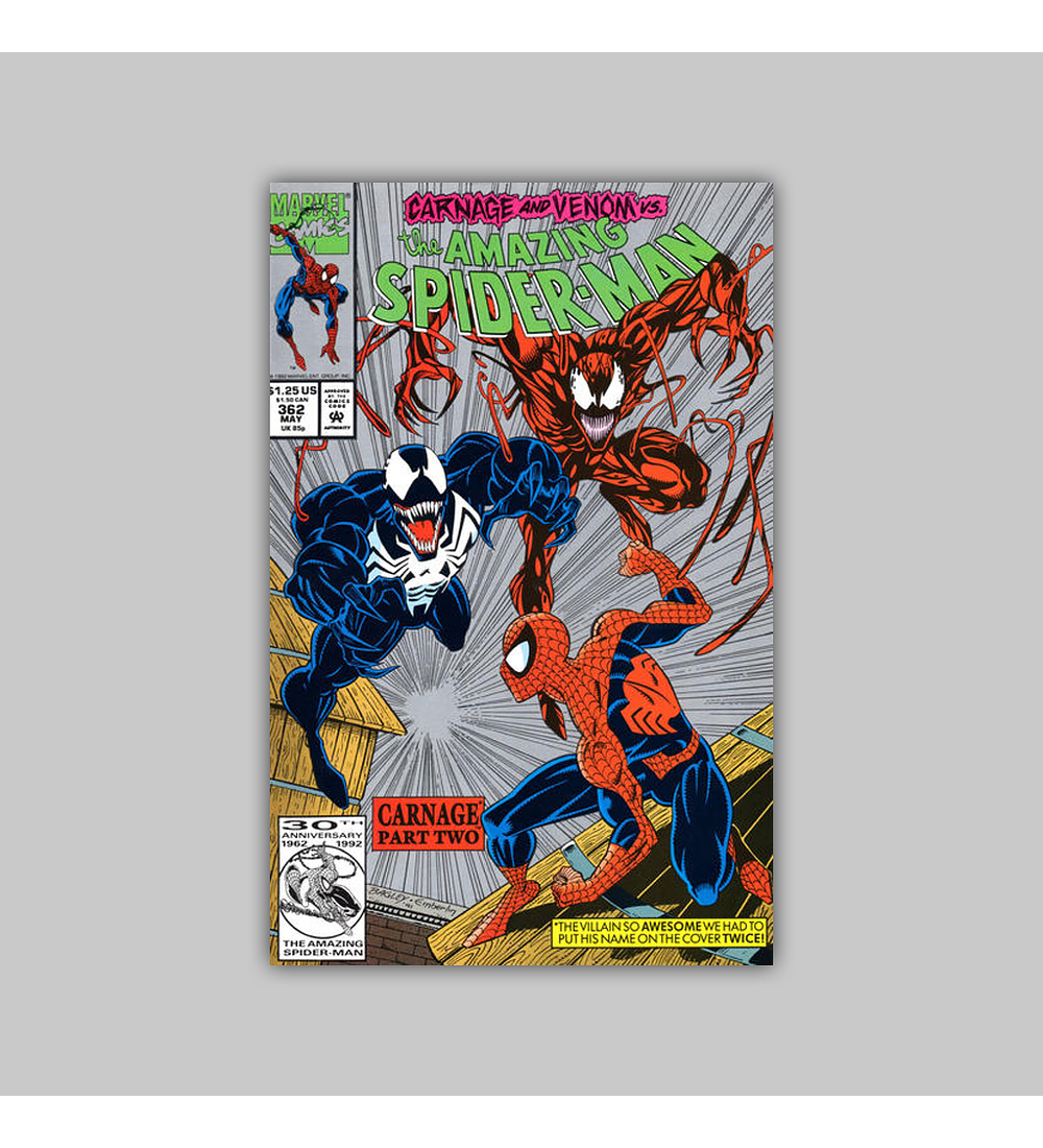 Amazing Spider-Man 362 2nd Printing 1992