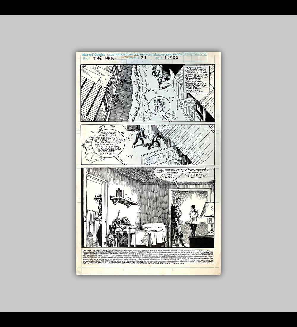 The 'Nam No. 31 Página 1 (Original)