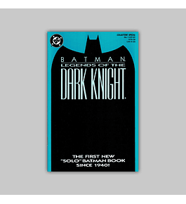 Batman: Legends of The Dark Knight 1 Blue 1989