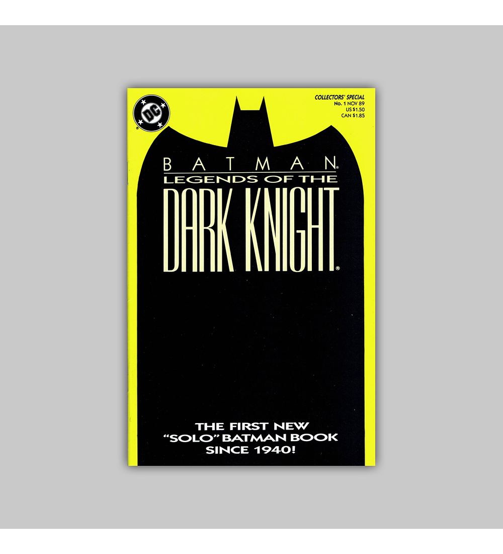 Batman: Legends of The Dark Knight 1 Green 1989