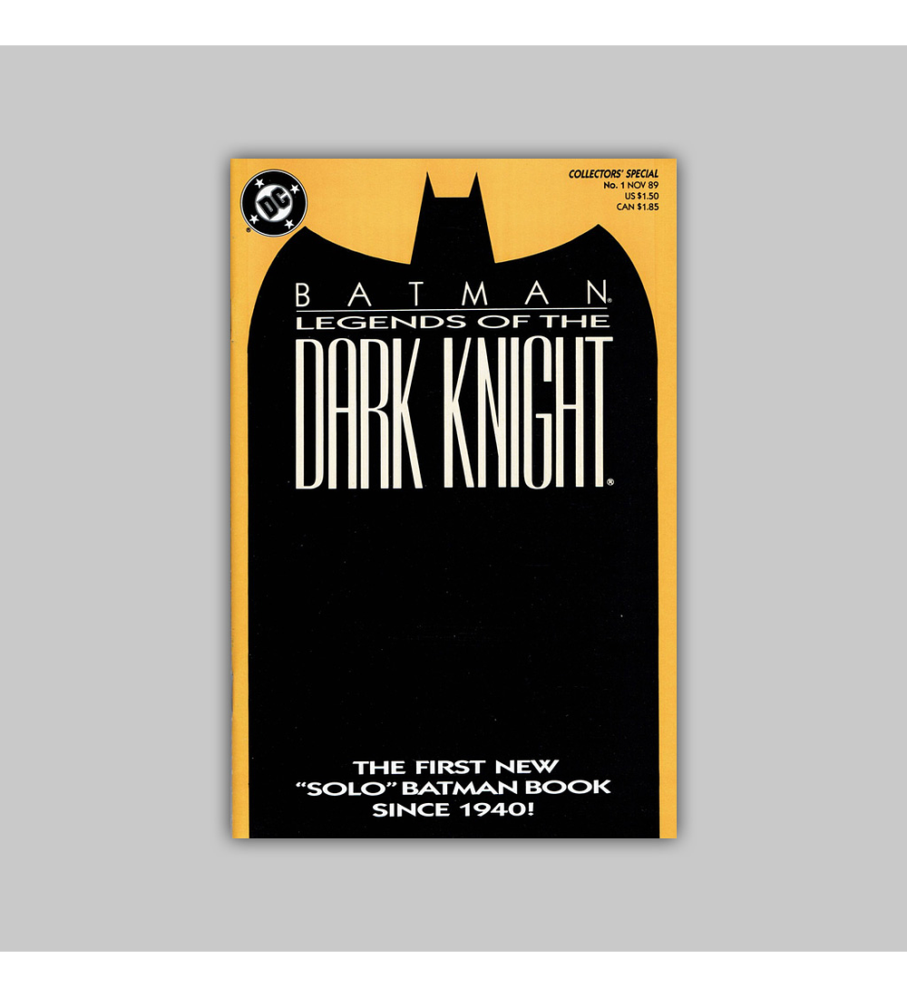 Batman: Legends of The Dark Knight 1 Orange 1989