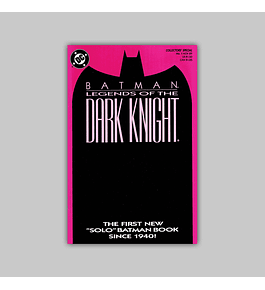 Batman: Legends of The Dark Knight 1 Purple 1989