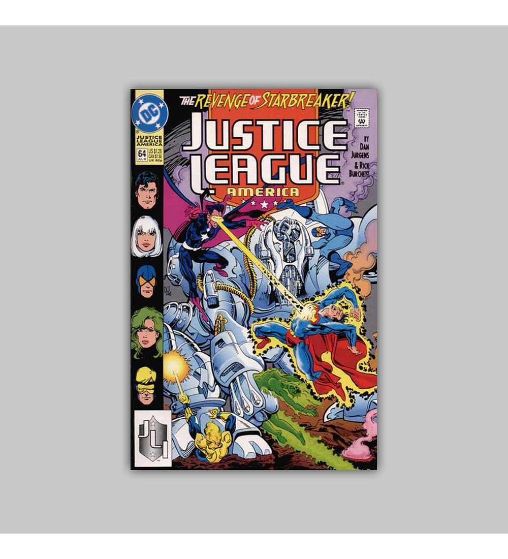 Justice League America 64 1992