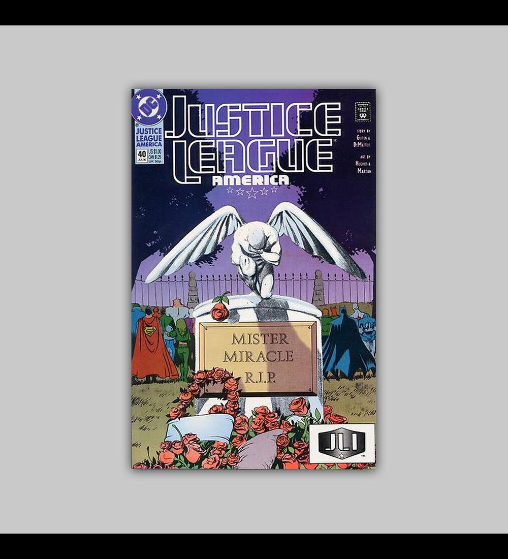Justice League America 40 1990