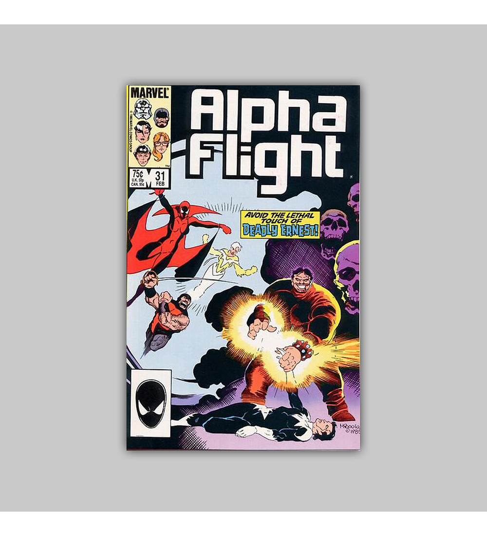 Alpha Flight 31 FN (6.0) 1986