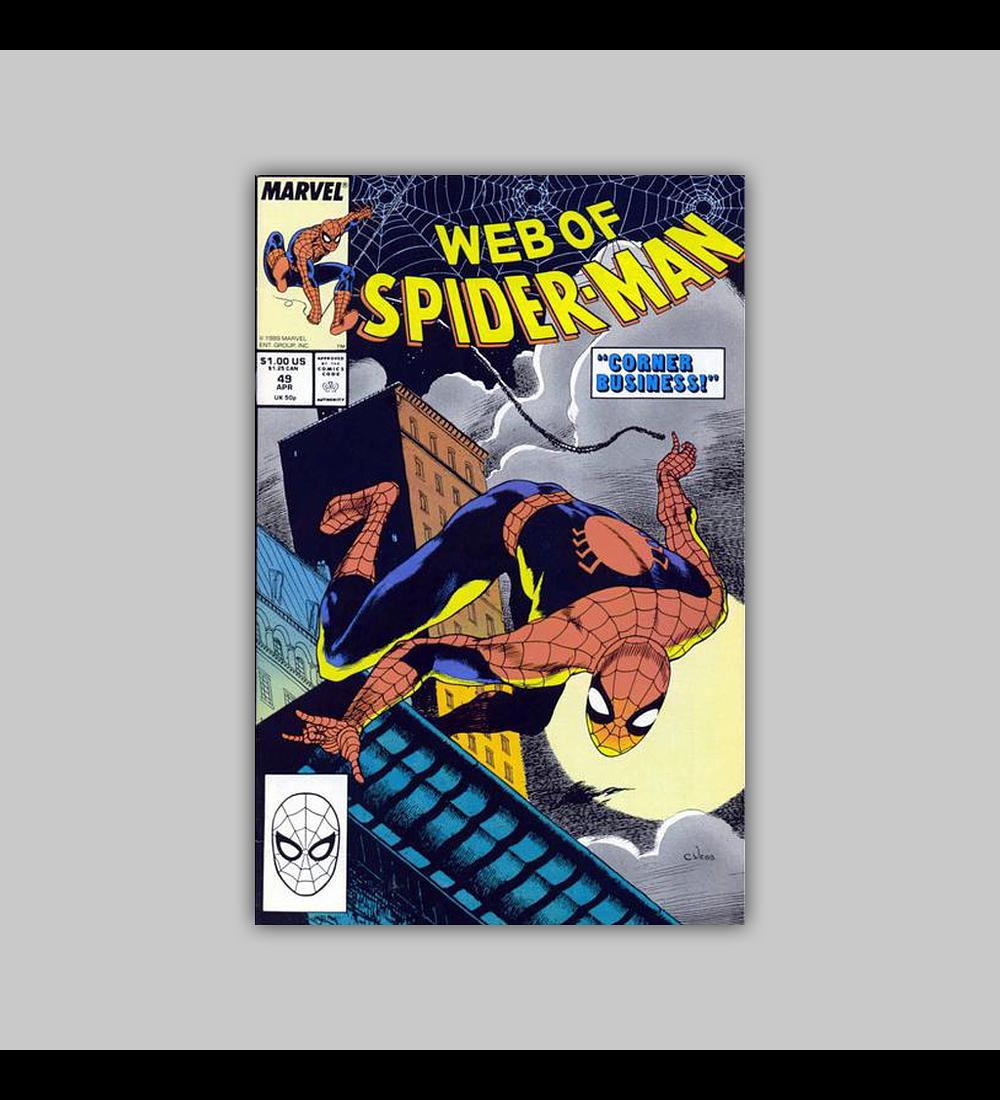 Web of Spider-Man 49 1989