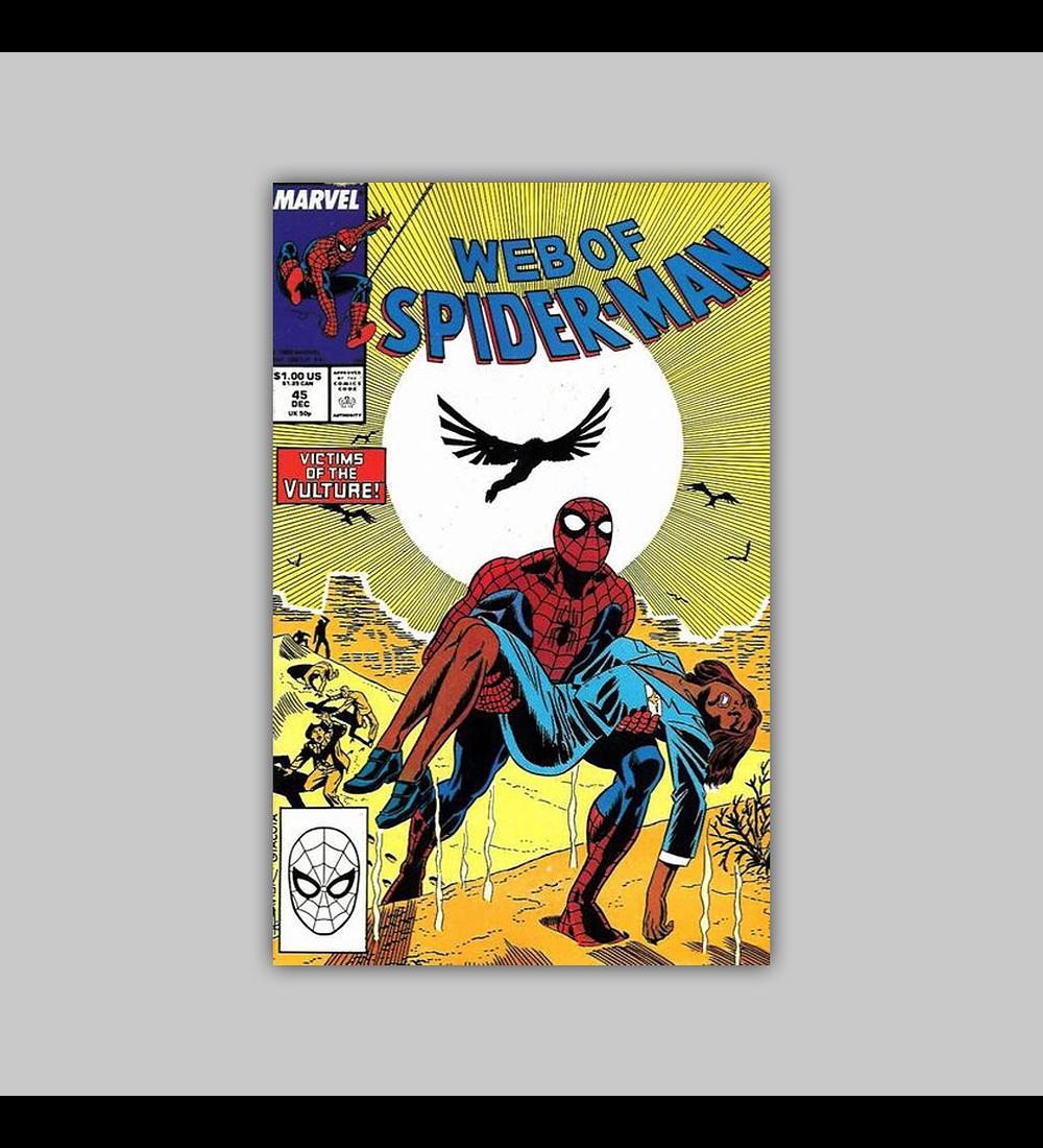 Web of Spider-Man 45 1988