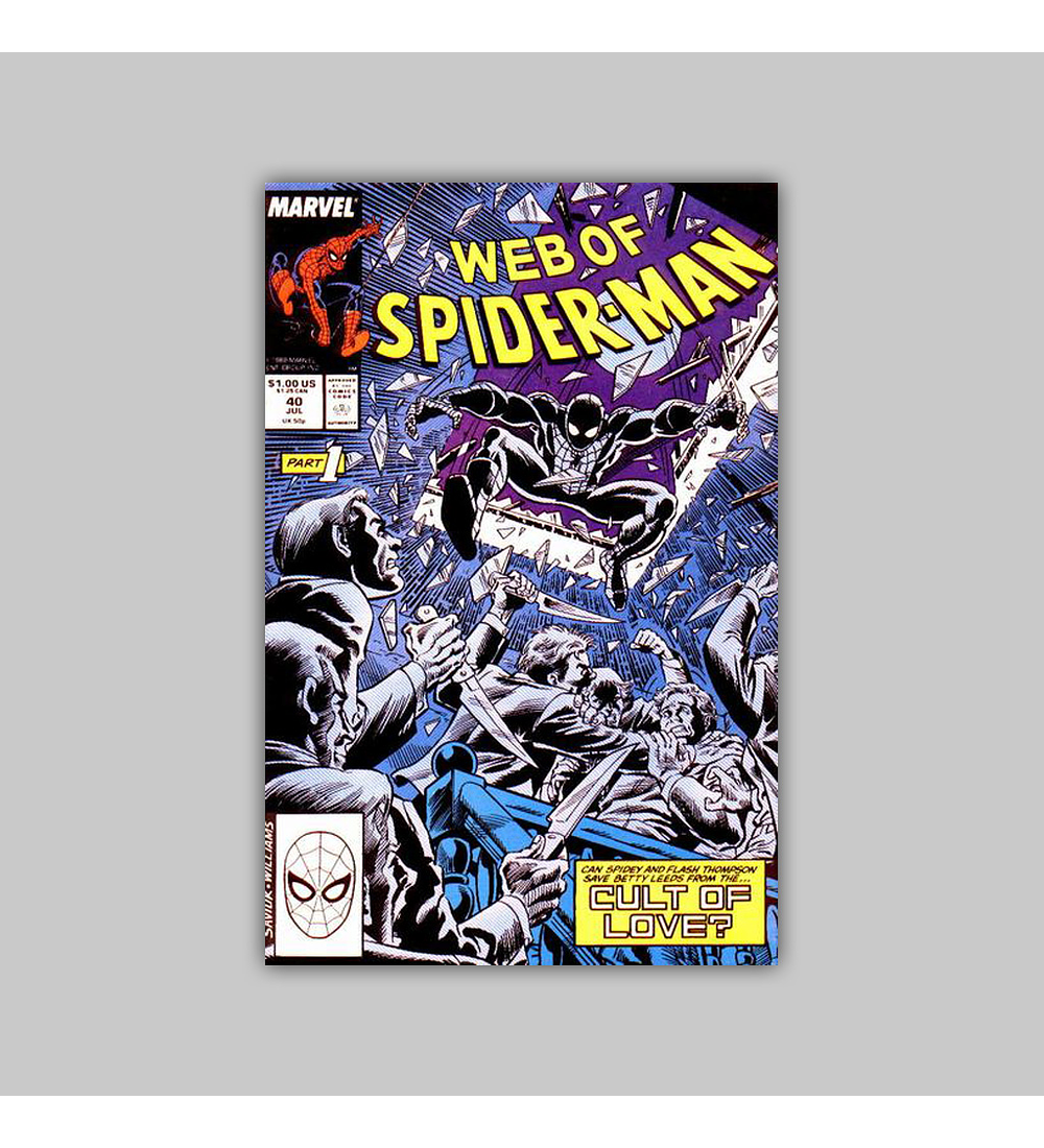 Web of Spider-Man 40 1988