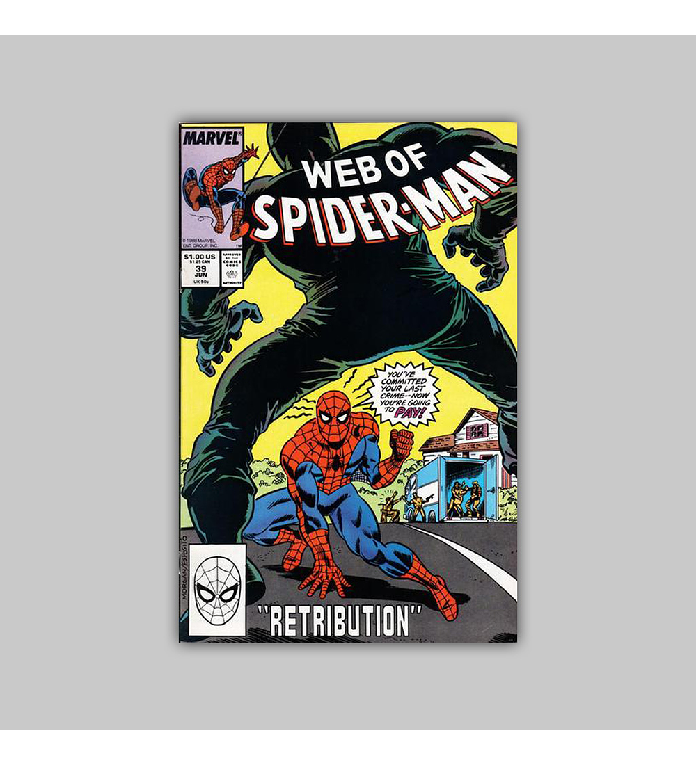 Web of Spider-Man 39 1988