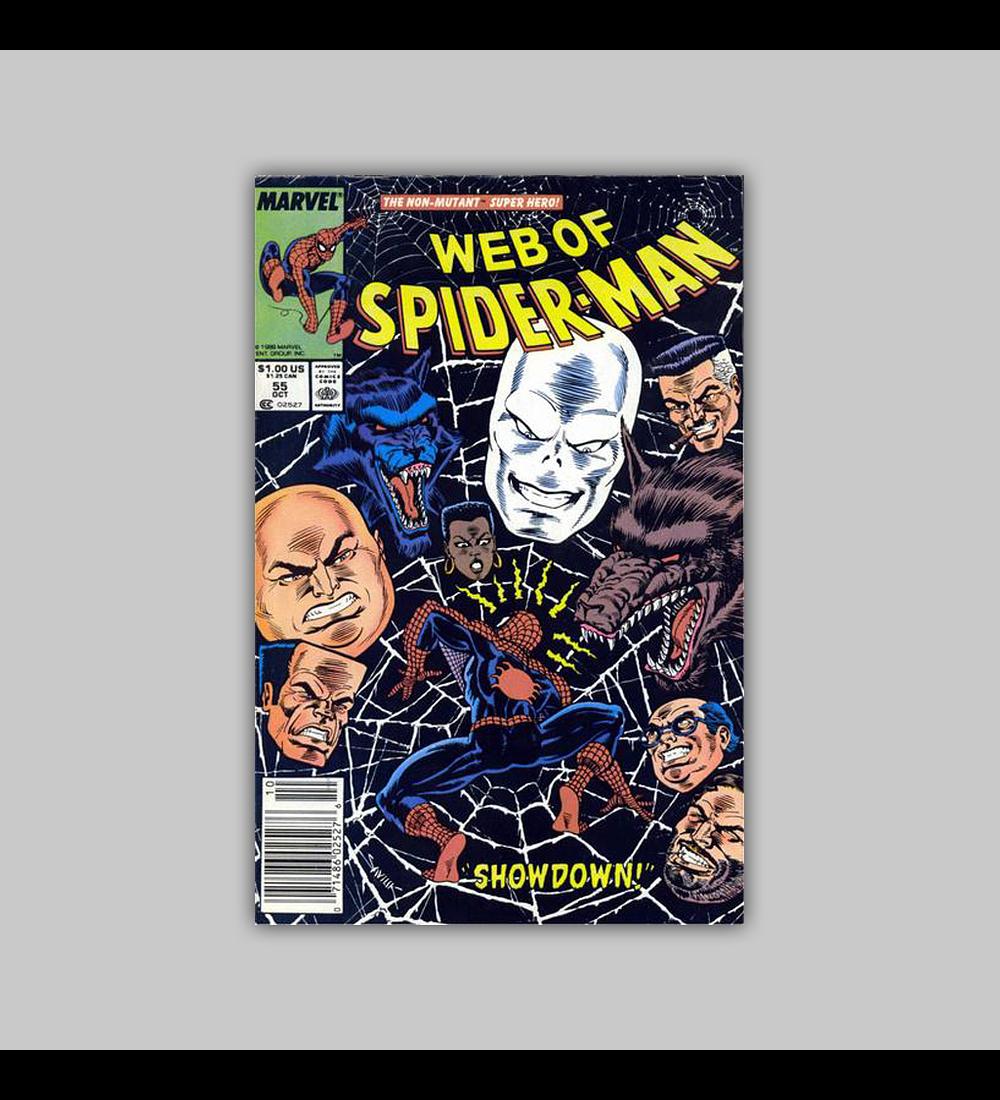 Web of Spider-Man 55 1989