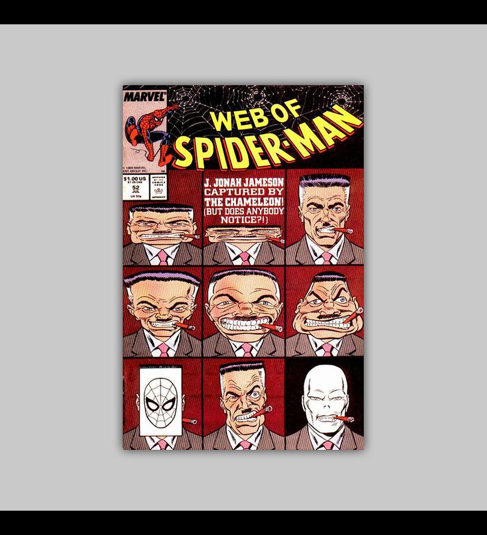 Web of Spider-Man 52 1989
