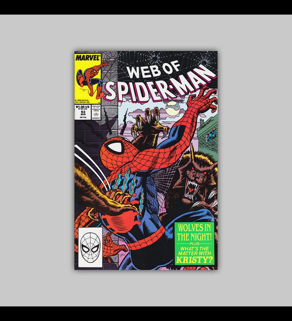 Web of Spider-Man 53 1989