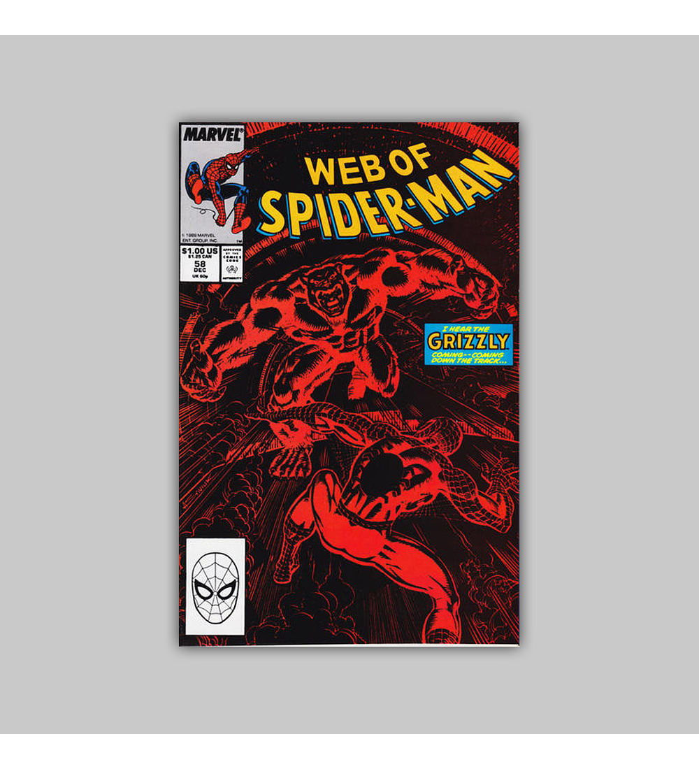 Web of Spider-Man 58 1989