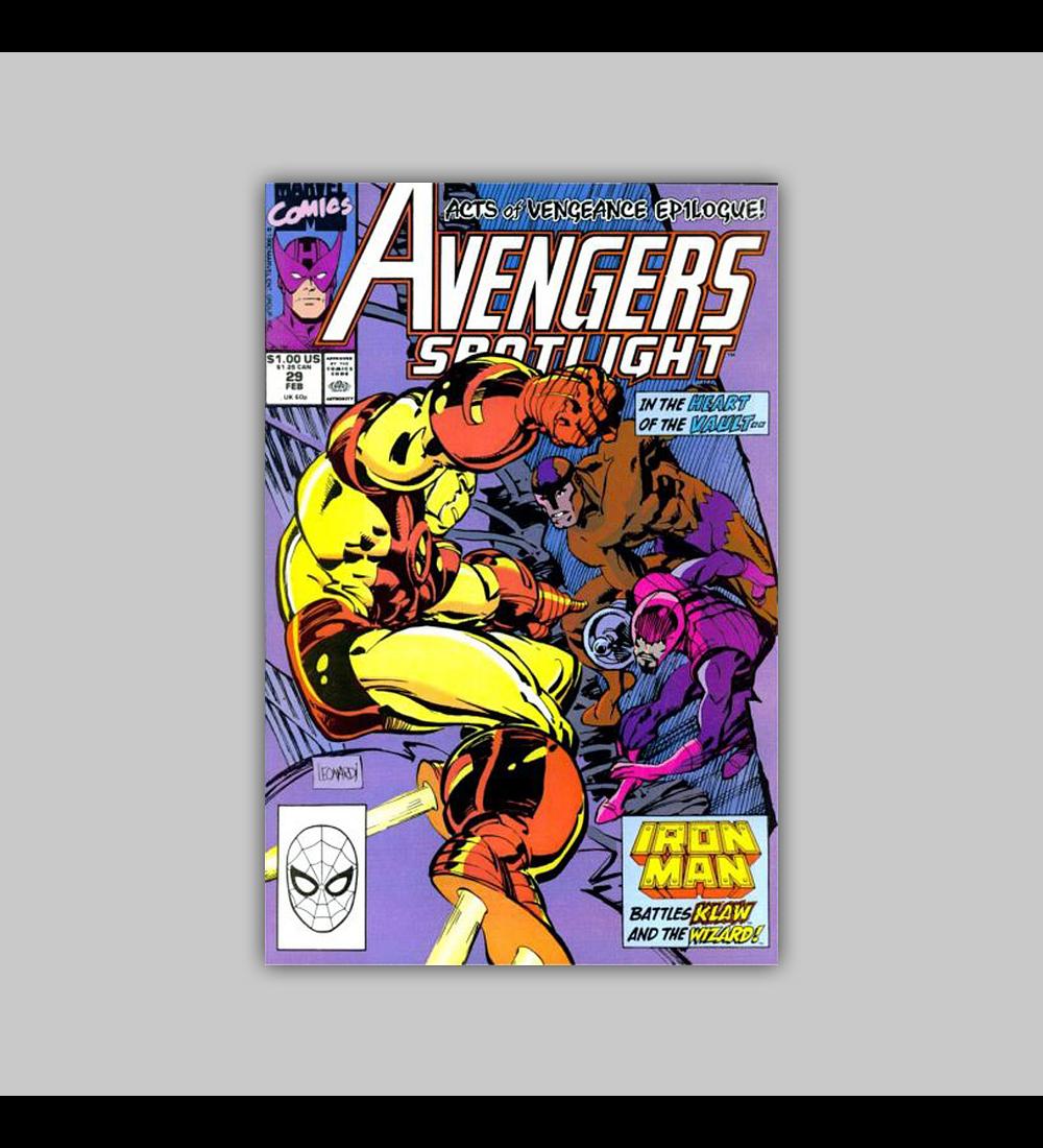 Avengers Spotlight 29 1990
