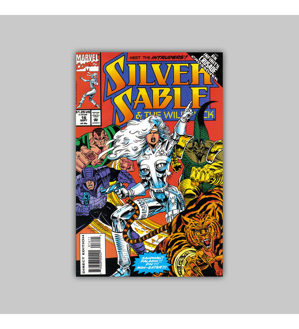 Silver Sable & the Wild Pack 16 1993
