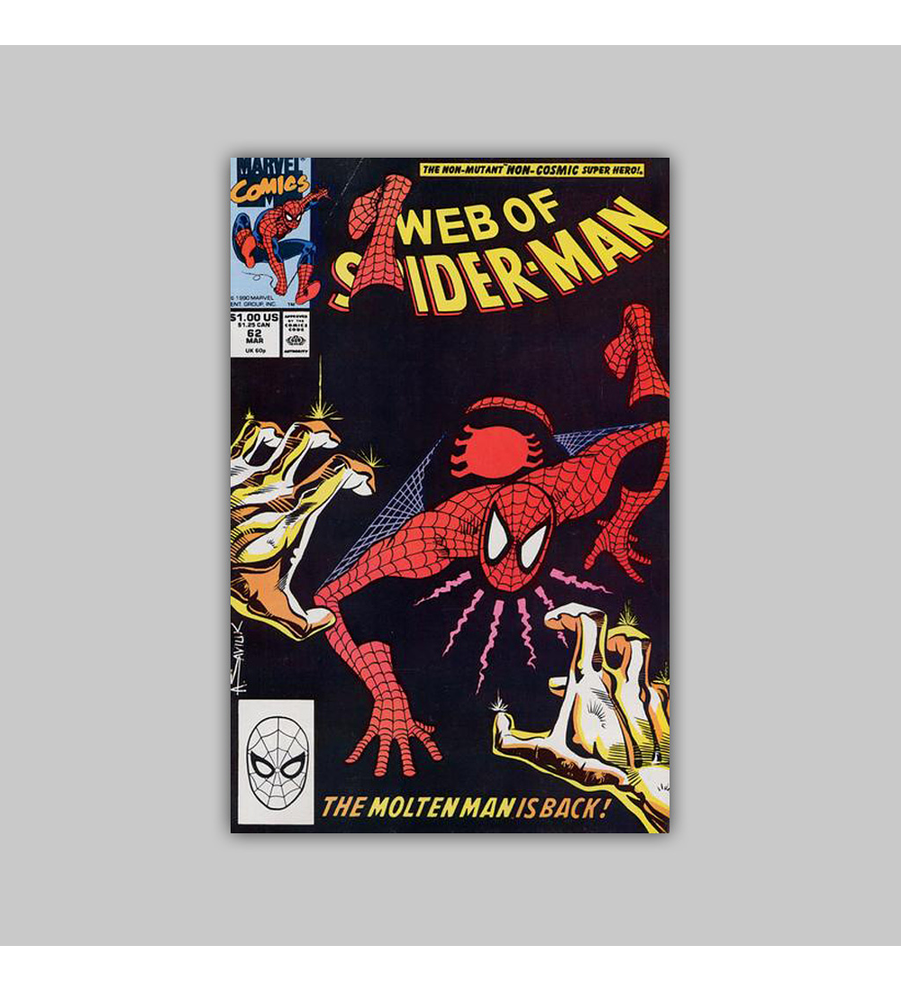 Web of Spider-Man 62 1990