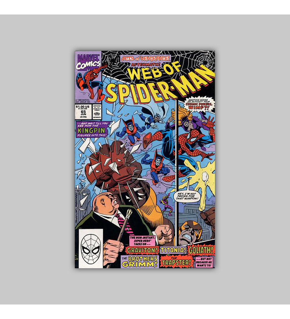 Web of Spider-Man 65 1990