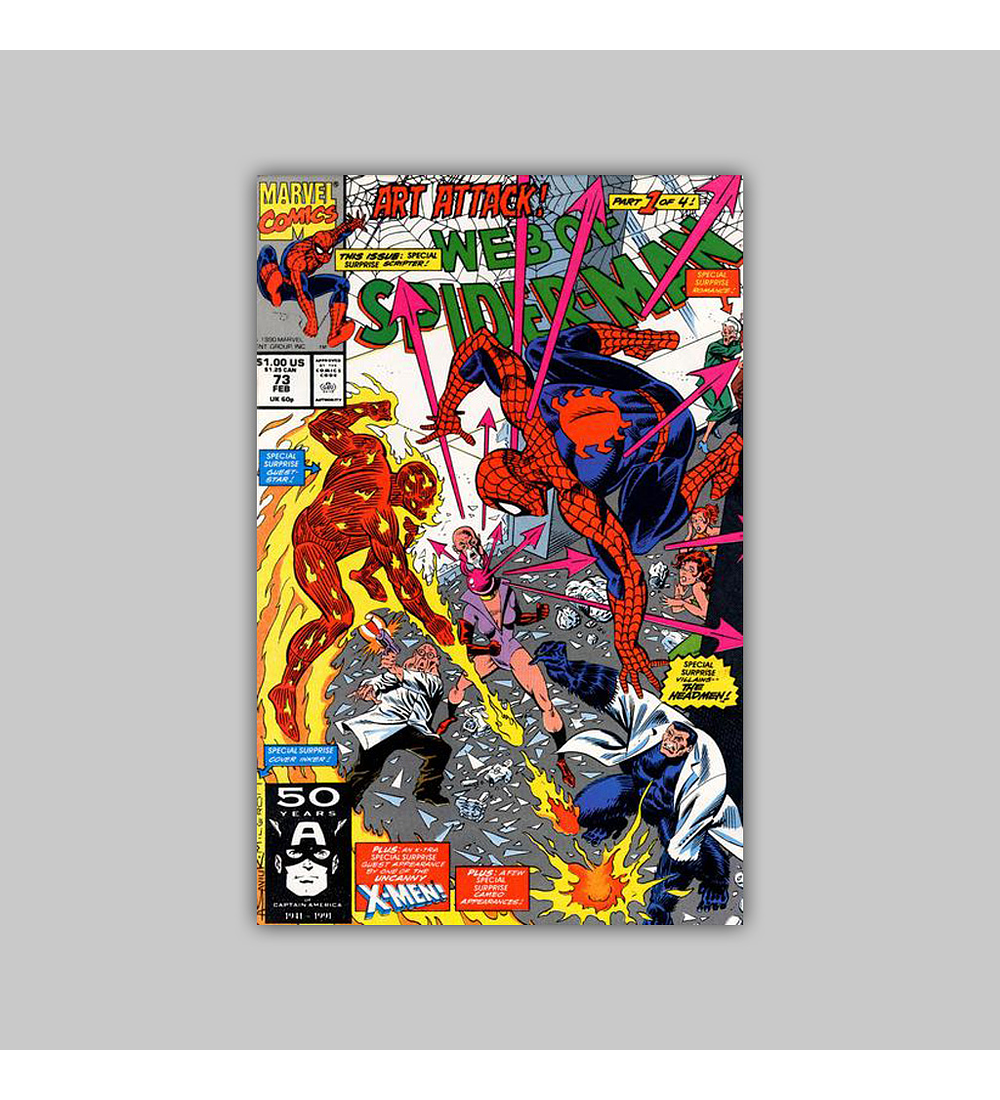 Web of Spider-Man 73 1991
