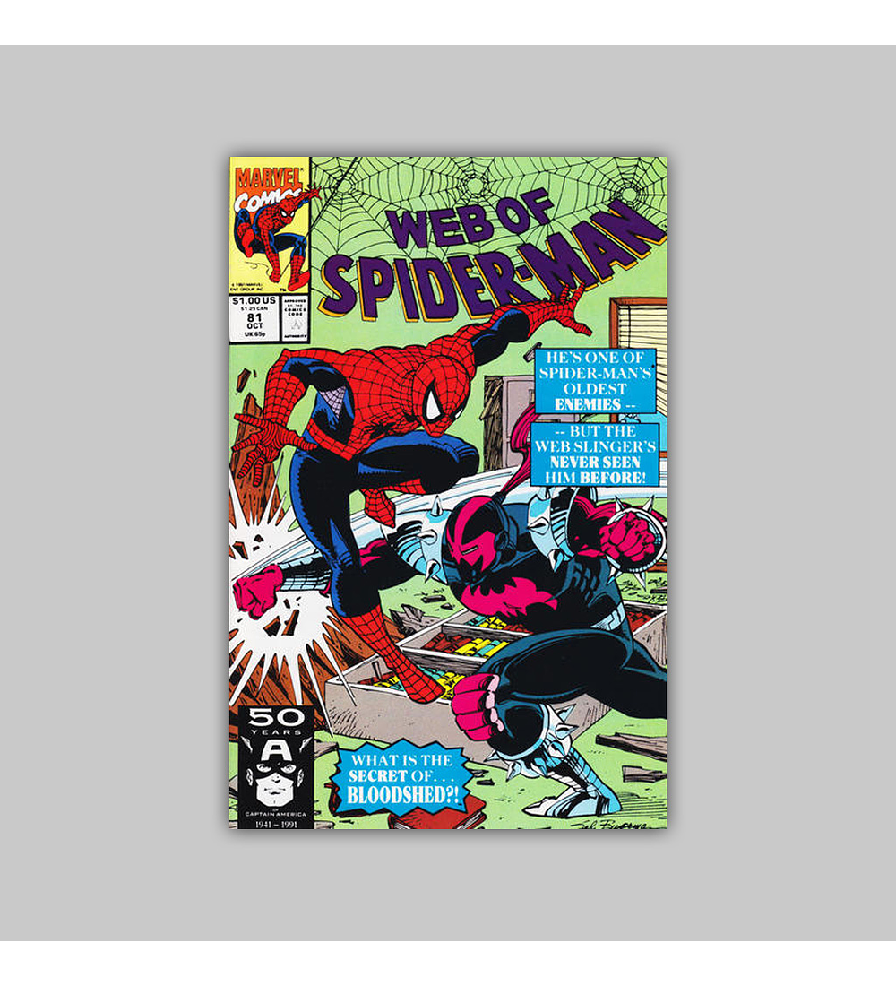 Web of Spider-Man 81 1991