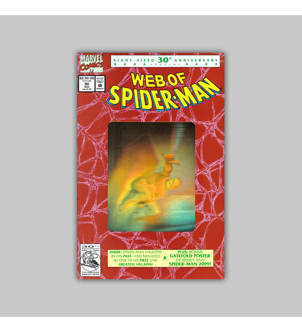 Web of Spider-Man 90 Hologram 2nd Printing 1992