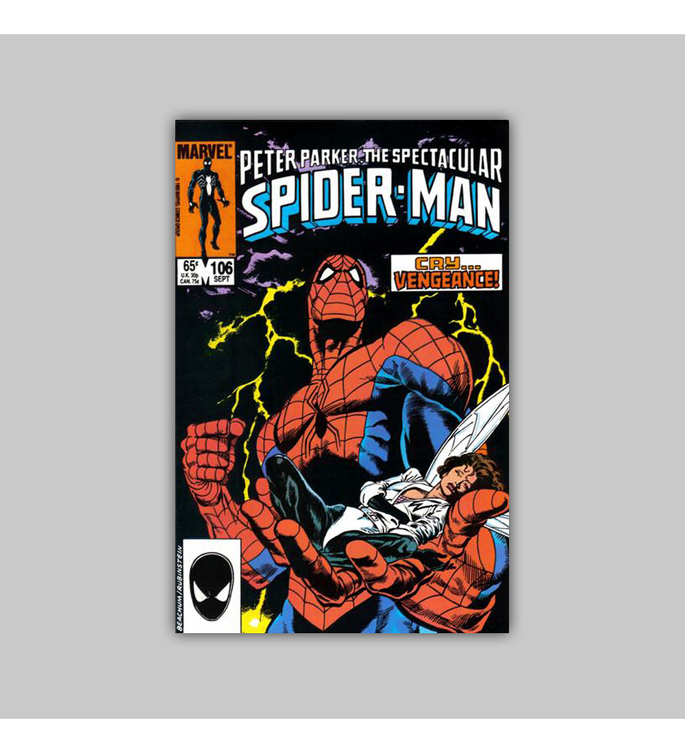 Peter Parker, the Spectacular Spider-Man 106 1985